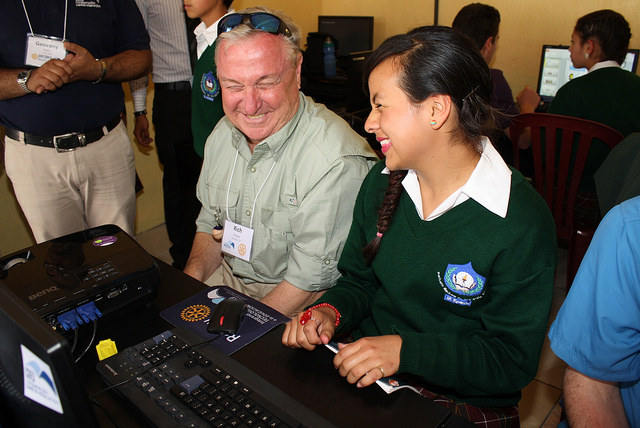Travel, volunteer, tour, meet beneficiaries, Rotary, Guatemala, service projects, literacy, south America, books, education
