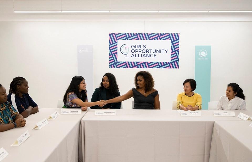Rise Graduate Meets Michelle Obama